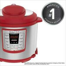Instant Pot Lux 6-Quart Red 6-in-1 Multi-Use Electric Pressure Rice Cooker Steam
