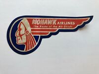 Vintage Mohawk Airlines Luggage / Baggage Label