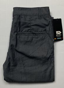 RUSTY Dark Nights Pants Mens Grey Marble Size 31 NWT RRP $99.99