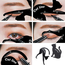 2pcs Cat Eye Line Eyeliner Stencil Models Template Eyes Shaper Makeup Tools New