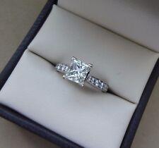 GIA 14K WG SI1/G 1.38 TCW PRINCESS / MODIFIED BRILLIANT DIAMOND ENGAGEMENT RING