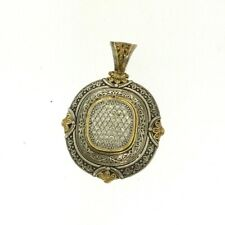 Konstantino Diamond Sterling Silver & Yellow Gold Pendant
