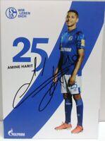 Amine Harit + Autogrammkarte 2019/2020 + FC Schalke 04 + AK2019122 +