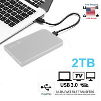 "2TB USB 3.0 Portable 2.5"" External Hard Drive Disk Ultra Slim For Laptop Windows"