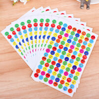 10Pcs/Pack Children  Faces Reward Stickers School Teacher Merit Praise SM