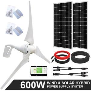 600W Hybrid System 400W Wind Generators & 2 pcs 100W Mono Solar Panel Off Grid