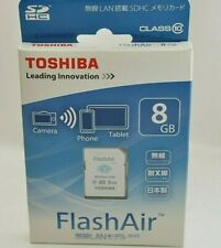 TOSHIBA FlashAir Wireless LAN-abilitata 8GB Scheda SDHC Classe 10 Giappone SD-WC008G