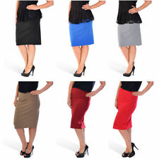 Polyester Knee-Length Plus Size Skirts for Women