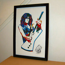 Paul Stanley, Kiss, Singer, Vocals: Guitar Player, Hard Rock, 11x17 PRINT w/COA