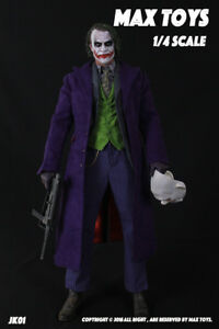 MAX TOYS 1/4 Scale Dark Knigth Joker Figure Clothes & Accessories no Hot toys
