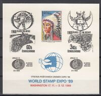 AH5159/ CZECHOSLOVAKIA – BLOCK WORLD STAMP EXPO 89