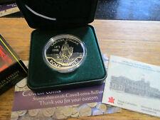 Canada 1998 RCMP-GRC ARGENTO PROOF DOLLARO $1 casella COA e copertura esterna
