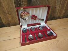 Ryals Silver Spoon Set Of Seven Faceted Edge EPNS Made In England Lined Case