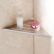Bathroom Single Tier Holder Corner Storage Shelf Wall Hanger Brushed Nickel SUS