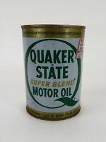 Vintage 1981.Quaker State Metal Motor Oil Can 1 Quart (Empty)