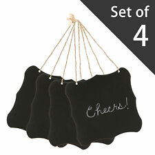 6 Inch Hanging Black Frame with Jute String / Wall D?cor Wooden Chalkboard Signs
