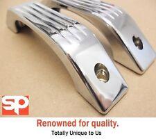 2x DEFENDER 90 110 TD5 PUMA CHROME INTERIOR GRAB HANDLES nt aluminium alloy SP6