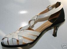 DRIES VAN NOTEN White  Black Shoes NEW Sandals sz 37  7