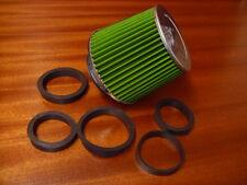 Cono Kit Inducción Filtro de Aire Verde Universal Adaptadores 90 80 75 70 65 60
