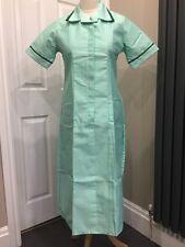 BNWT Burnlea Nurses Carers Work Uniform Dresses in Lime With Green Trim Size 10