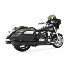 """Dual 4"""" Muffler Black Full Exhaust w/ Billet Tip For Road/Stratoliner & Raider"""