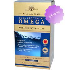 Solgar, Full Spectrum Omega Wild Alaskan, 120 Softgels Salmon Oil Heart Healthy