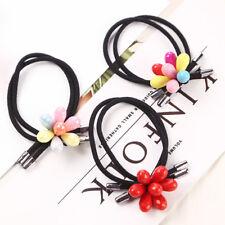 3pcs colorful beads black Elastic Hair Ring Hair Rubber bands Rope Headbands