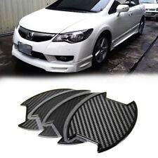 FOR Honda Civic 8th 4DR Sedan Carbon texture Side Door Handle Bowl Sticker