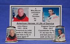 American Heroes A Life of Service Glenn/Cernan Box Set of Thimbles+ Card B/178