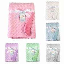 Manta de bebé recién nacido Suave Cuna Cochecito Cuna Chicos Chicas Infantil paño grueso y suave piel de vuelta