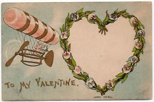 Hold-To-Light Valentine PC Cupid in Hot Air Balloon Man Smoking in Heart~106132
