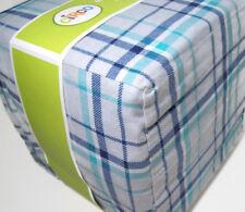 Circo Multi Colors Blue Gray Plaid Cotton Flannel Full Sheet Set New