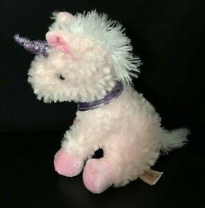 "Dan Dee Collectors Choice 12"" Pink Unicorn Plush Pink Sparkle Eyes Gift"