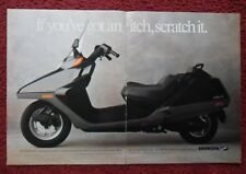 1987 Print Ad Honda Helix Motorcycle Scooter ~ If You Have an Itch, Scratch It