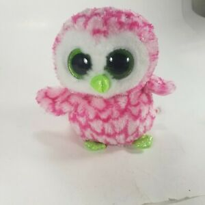 TY Beanie Boos - BUBBLY the Pink & Green Owl (Glitter Eyes) (6 inch) *Limited*