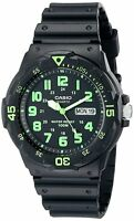 Casio MRW-200H-3B Original New Black Analog Mens Watch 100m WR MRW-200 MRW200