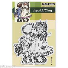 New Penny Black RAGGED ROMEO Slapstick Cling Stamp Children Valentine's Love