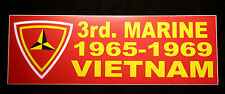 US MARINES 3RD MARINE DIVISION BUMPER STICKER MAR DIV Camp Courtney Okinawa WOW