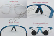 Mounting prescription lens for dental loupe surgica loupes with sports frames