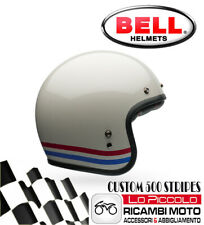 CASCO BELL CUSTOM 500 STRIPES JET BIANCO PERLATO MIS. L