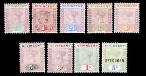 ST VINCENT 1899 M/U set SG 67-75 sc 62-70