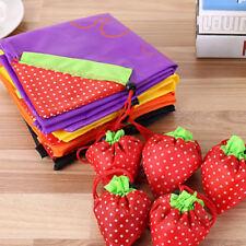 Eco Shopping Strawberry Shoulder Bag Pouch Tote Handbag Folding Reusable Bags