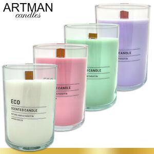 1,17 kg Duftkerze ECO im edlen Glas | Flachkopfkerze | 4 Düfte zur Auswahl