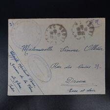 LETTRE COVER EN FM FRANCHISE CAD LE BLANC 1945 CACHET CHEF BUREAU DE GARNISON