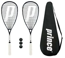 2 x Prince Pro Sovereign 650 Squash Rackets + 3 Squash Balls + Covers RRP £330