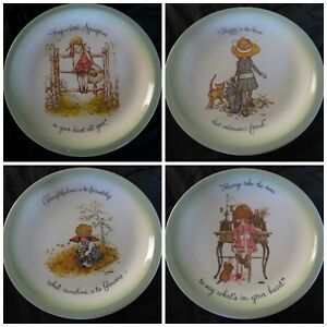 """American Greeting HOLLY HOBBIE 10.5"""" COLLECTOR PLATE Vintage Each Home Friend"""