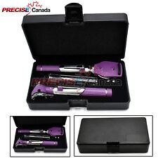 FIBER OPTIC Otoscope Ophthalmoscope LED Diagnostic ENT SET Purple