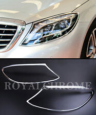 EXPRESS x2 CHROME Head Lamp Trims for Mercedes Benz S Class W222 13-16 AMG