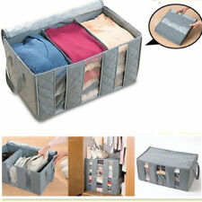 65L Large Charcoal Clothes Sweaters Blankets Closet Organizer Storage Bag