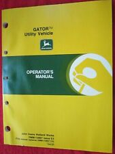 JOHN DEERE GATOR UTILITY VEHICLE OPERATOR'S MANUAL OMM114897 Issue E3